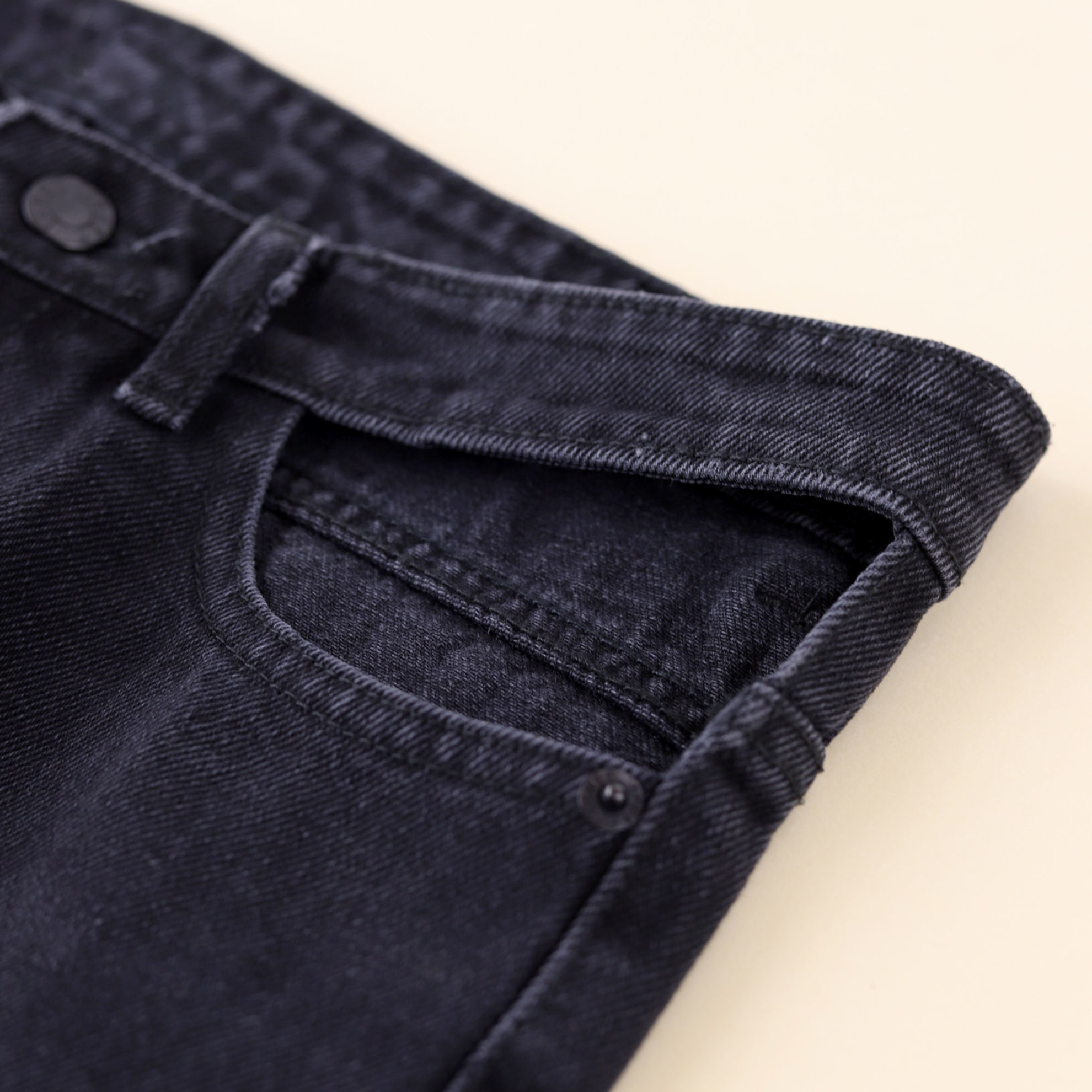 تصویر از شلوار جین بگ بدون جیب