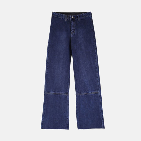تصویر از شلوار جین بگ تیره