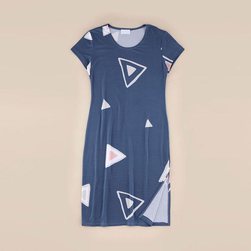 تصویر از پیراهن مثلثی چاکدار