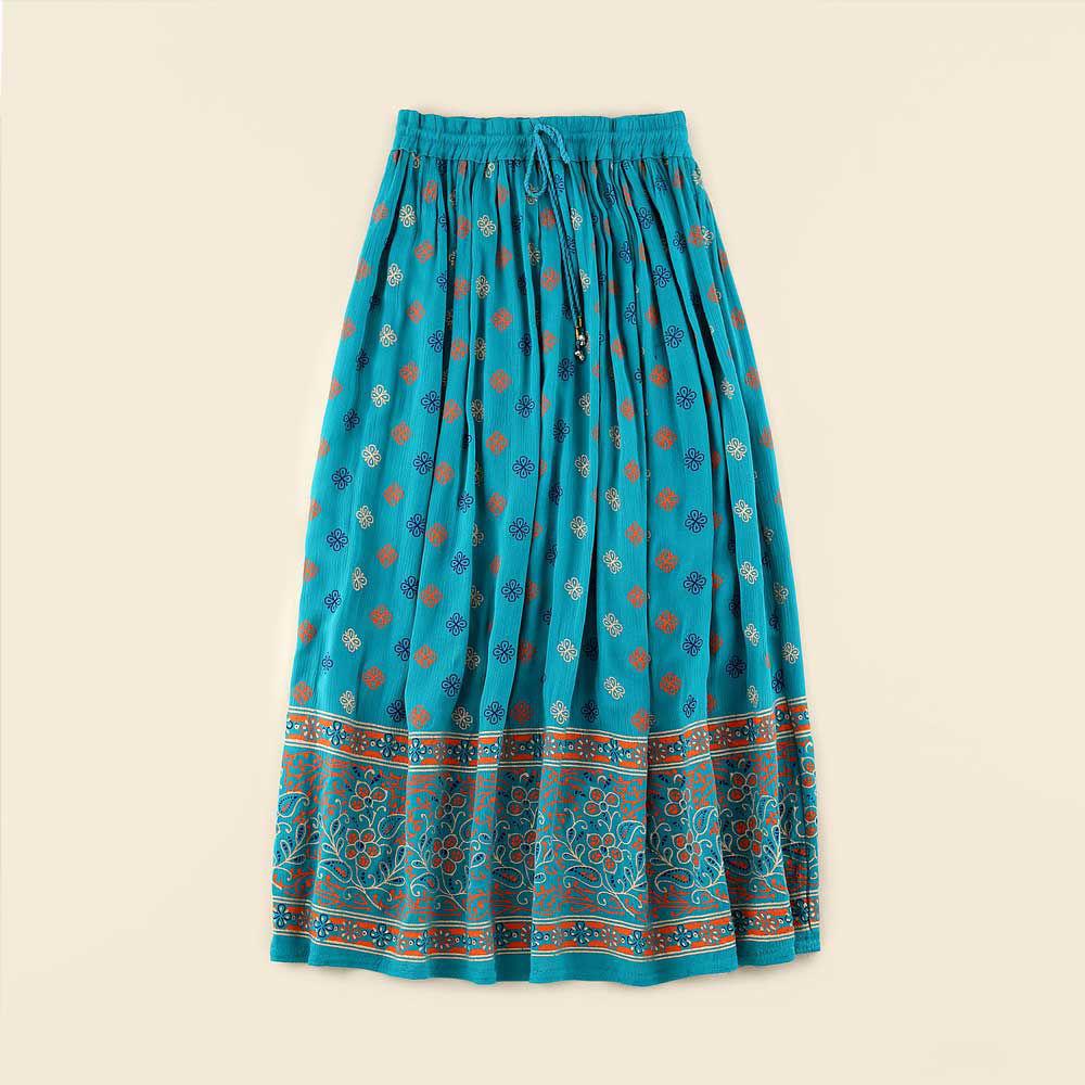 تصویر از دامن طرح دار هندی